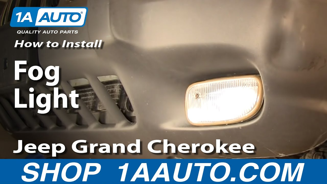 how to replace fog driving light 99 03 jeep grand cherokee [ 1280 x 720 Pixel ]