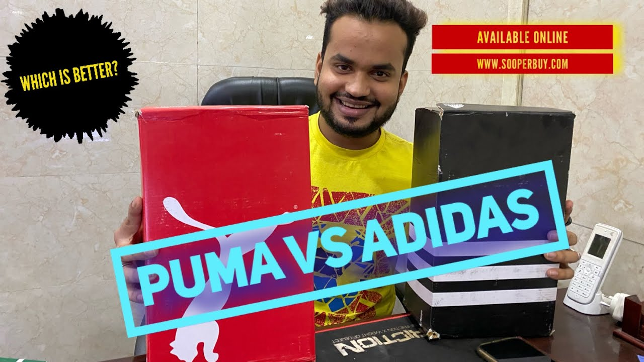 Puma vs Adidas || Which is better? Puma rsx | Adidas Cloudfoam,Alphabounce | Order @ Sooperbuy