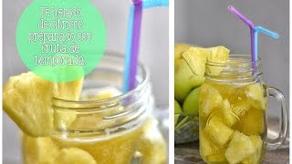 Bebida Refrescante Y Deliciosa/citrus Iced Tea Prepared With Pineapple