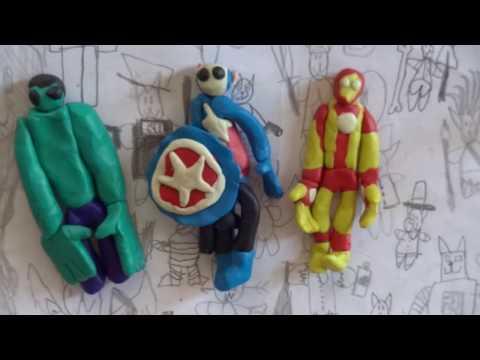 Мстители из пластилина