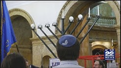 State House Menorah lighting