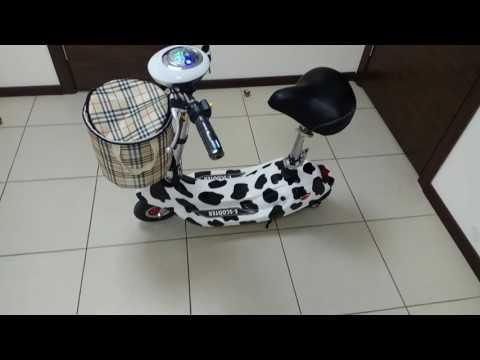 Электро-Самокат с сиденьем. Самокат электрический, самокат с сиденьем.