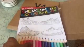 unboxing and preview of the Sneakerhead coloring book