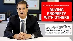 5 Things to Remember When Buying A Property With Others