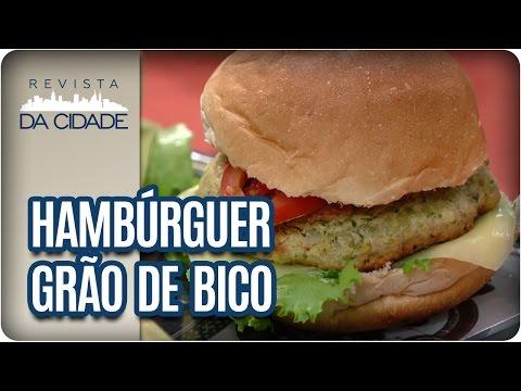 Receita de Hambúrguer de Grão de Bico - Revista da Cidade (16/03/17)
