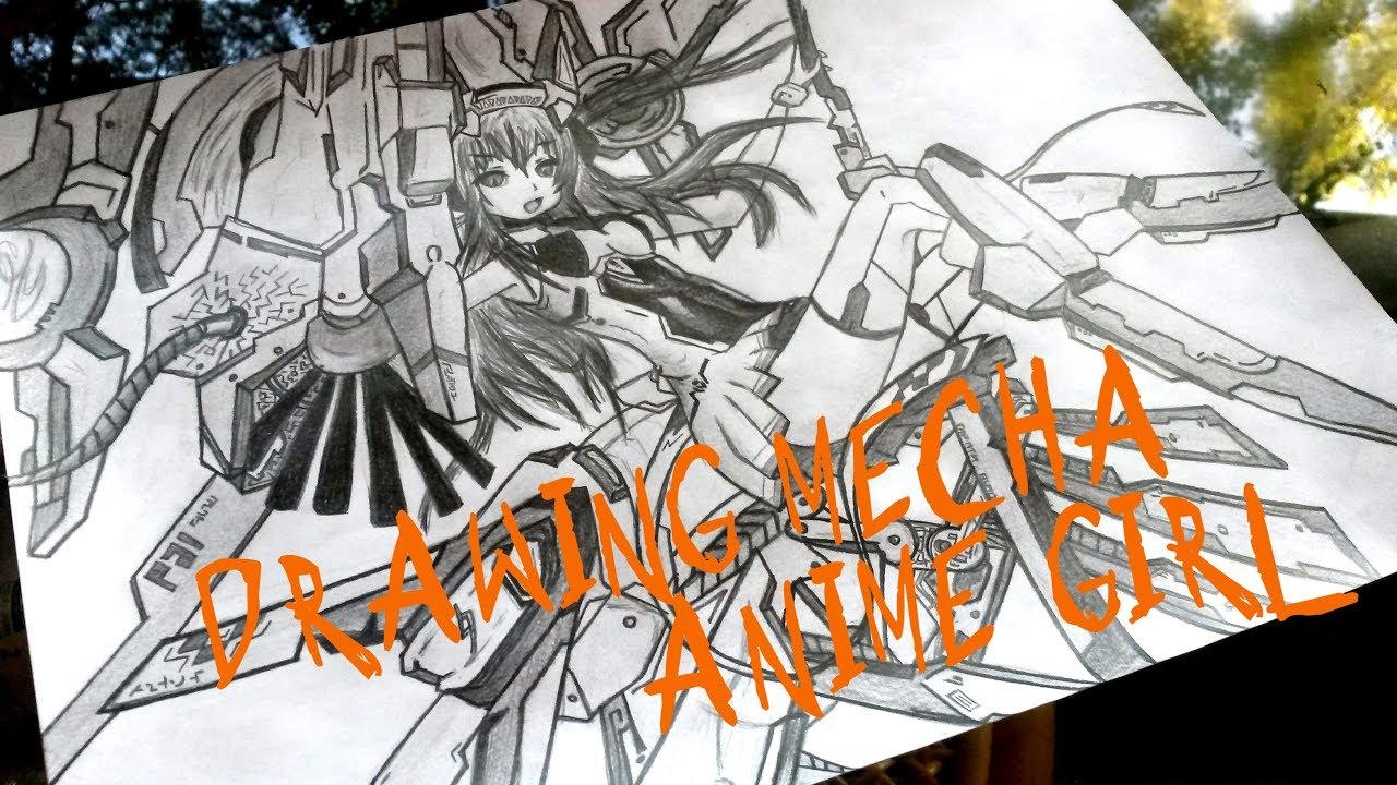 Drawing Mecha Anime Girl Youtube
