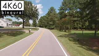 4K Drive - Countryside Drive Leading to Wendell, North Carolina