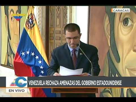 Comunicado del gobierno venezolano rechazando amenazas de Donald Trump con operación militar