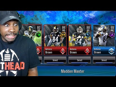 MADDEN MOBILE 19 OVERDRIVE GAMEPLAY! 99 OVR MASTER ANTONIO BROWN! Ep 3