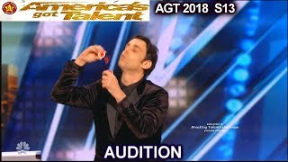 Lioz Shem Tov  FUNNY Comedian Mentalist Telekinesis  America's Got Talent 2018 Audition AGT