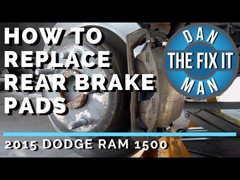2015 DODGE RAM 1500 – HOW TO REPLACE REAR BRAKE PADS – RAM TRUCKS – DIY