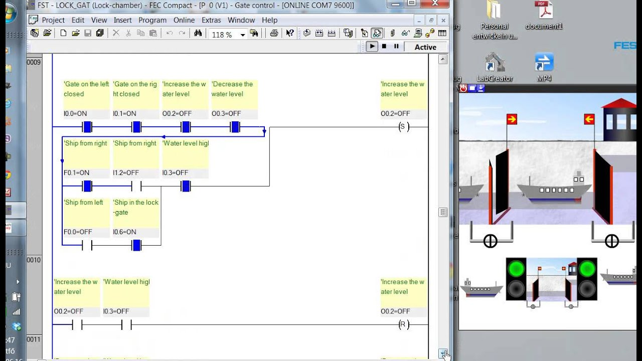 Plc Program Easyveep Lock Chamber Control Youtube