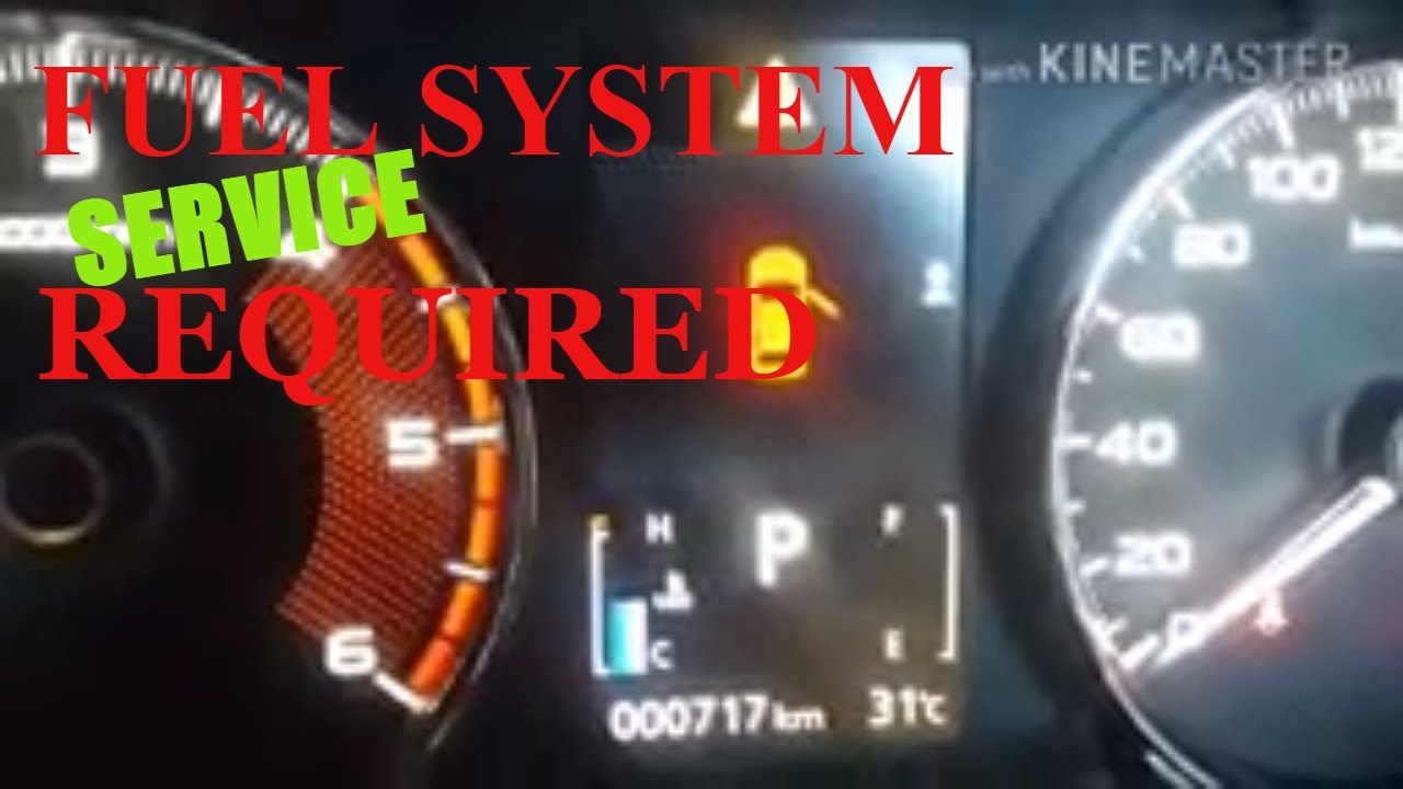 FUEL SYSTEM SERVICE REQUIRED AT ALL NEW PAJERO SPORT