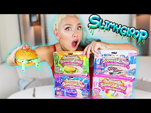 TESTING SLIMYGLOOP squeeze witches SLIME KITS!