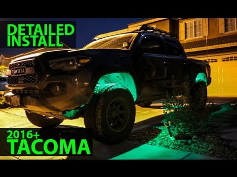 HOW TO INSTALL ROCK LIGHTS TOYOTA TACOMA IN DETAIL + REVIEW & TEST