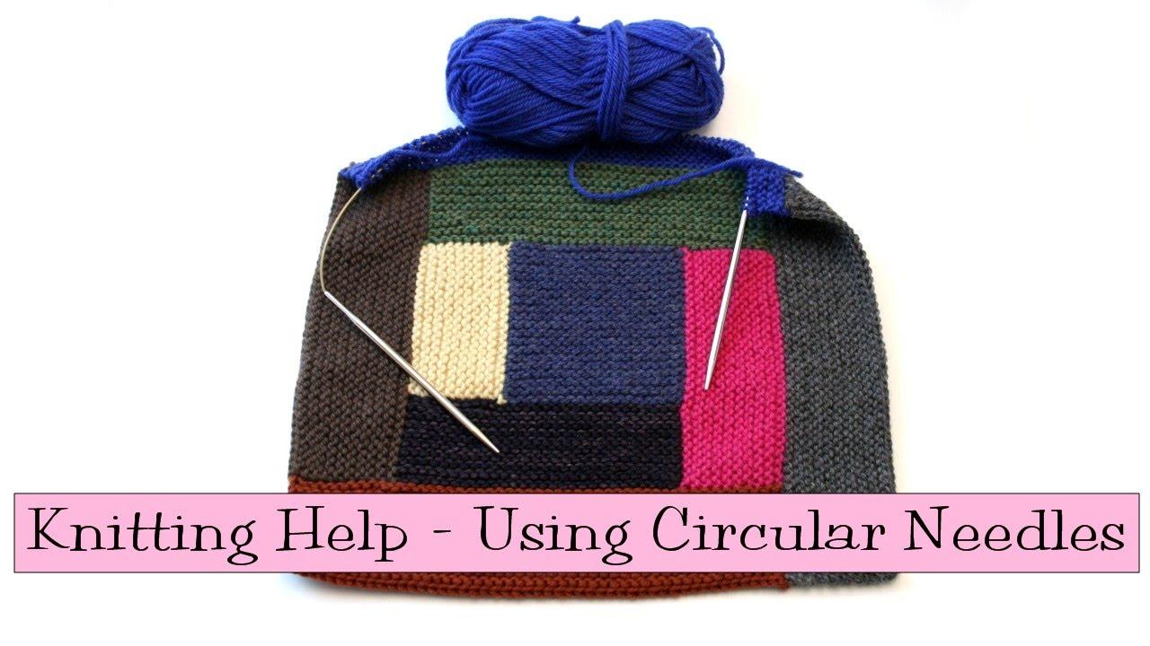 Knitting Help : Knitting Help - Using Circular Needles - YouTube