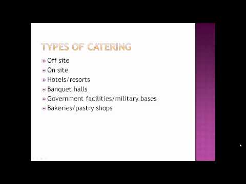 Fundamentals of Catering Part 1