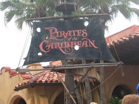 Pirates of the Caribbean (HD POV) Front Row NIGHTVISION Magic Kingdom Walt Disney World 1080p