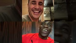 Fabio Cannavaro and Mario Balotelli talking on Instagram Live during quarantine 13-04-2020 Complete