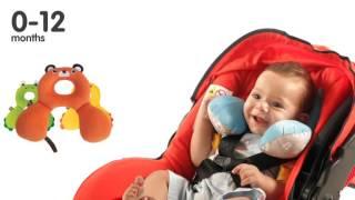 Детский аксессуар подушка подголовник(Подушка подголовник для детей в автокресло и просто для комфорта в пути., 2016-07-12T10:31:15.000Z)