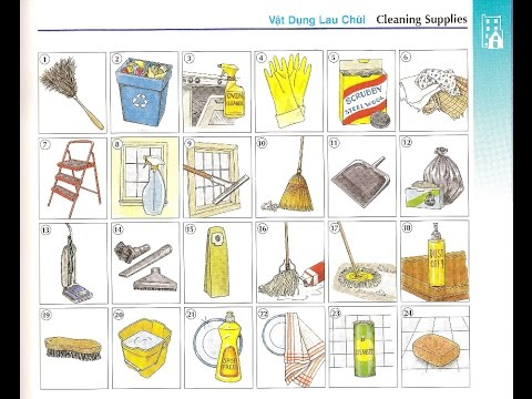 Oxford dictionary | Lesson 35: Cleaning Supplies | Learn English | Oxford picture dictionary