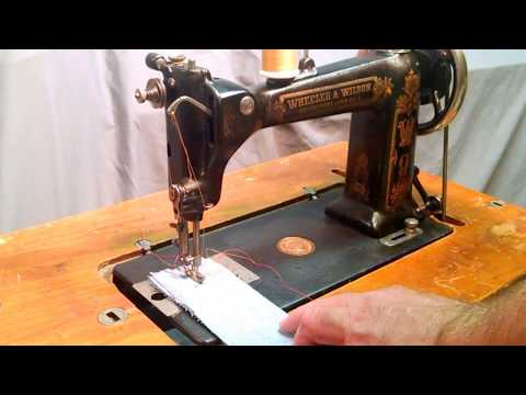 Serviced Antique Wheeler & Wilson No. 9 Treadle Sewing Machine 2386268