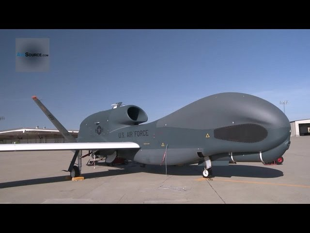 RQ-4 Global Hawk UAV - Launching, Landing, Taxiing and Maintenance