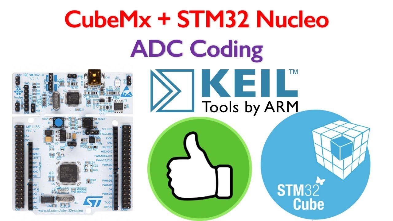 STM32 Nucleo Tutorial 3- ADC Coding in Keil uvision