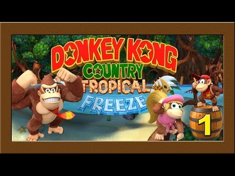 Lets Play Donkey Kong Country Tropical Freeze #01 | Kong Combo