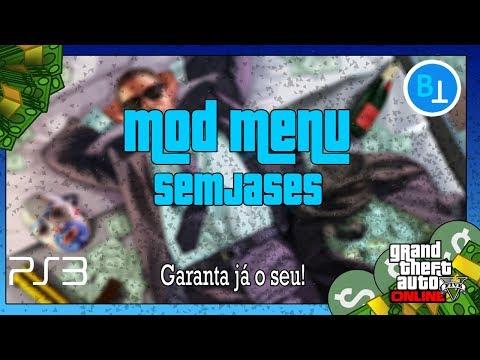 GTA V ONLINE PS3 MOD MENU EM PORTUGUÊS BR SEMJASES V2 5