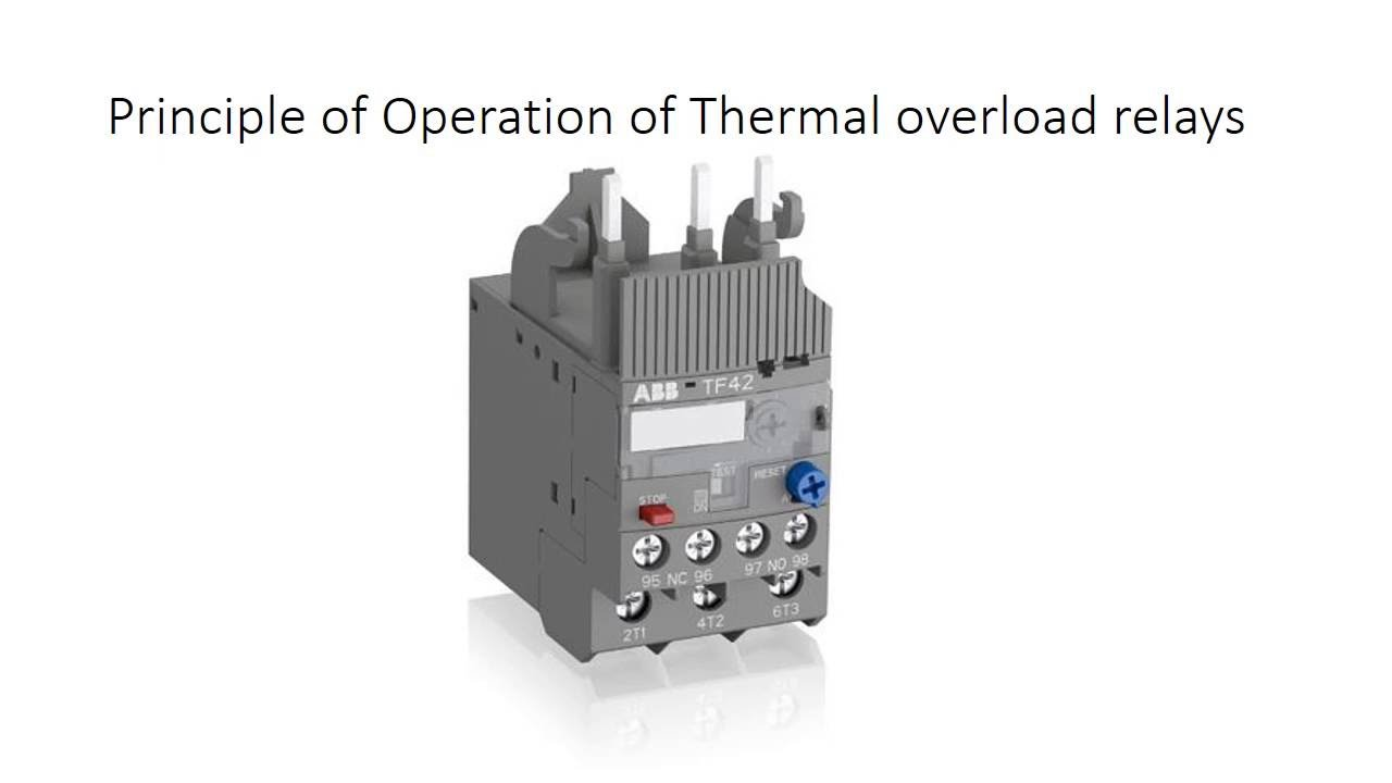 Overload Relay  Principle of operation  YouTube