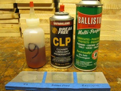 Powder Solvent Comparison Break Free CLP and Ballistol vs Hoppes #9