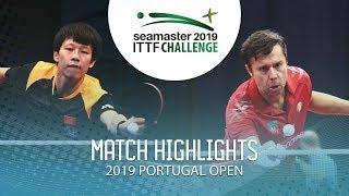 Lin Gaoyuan vs Vladimir Samsonov | 2019 ITTF Challenge Plus Portugal Open Highlights (1/2)