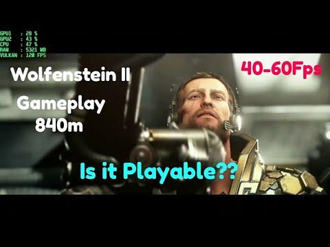 WOLFENSTEIN 2 THE NEW COLOSSUS Walkthrough Gameplay  in 840 m(Wolfenstein II)  
