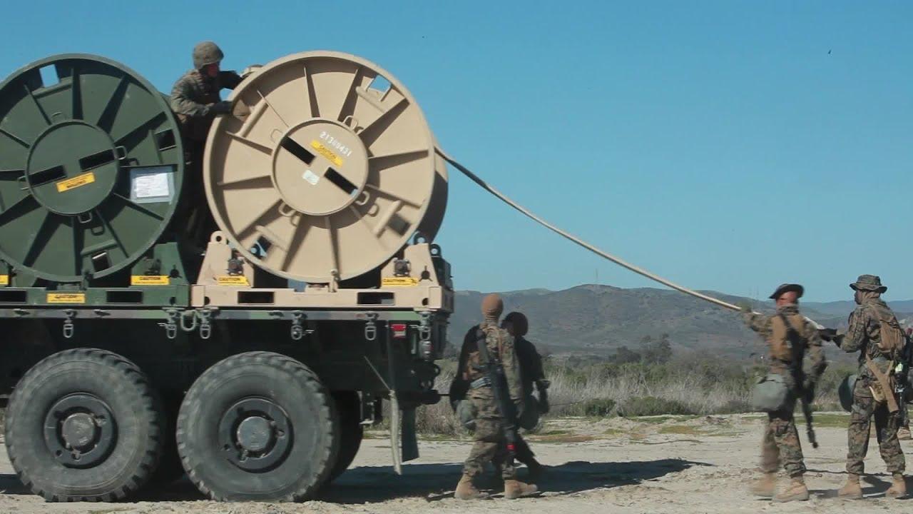 U.S. Marines Deploying Bulk Fuel Hose - YouTube