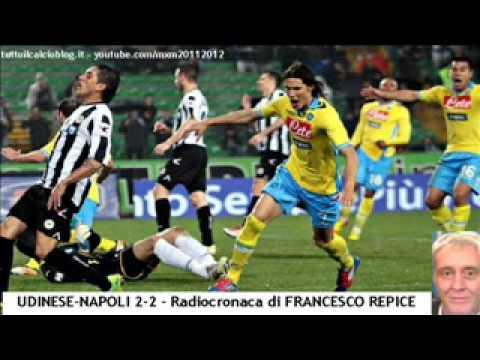 UDINESE-NAPOLI 2-2 – Radiocronaca di Francesco Repice (18/3/2012) da Radiouno RAI