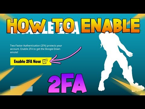 How To Enable 2FA Fortnite 2019 ! ( How To Get 2FA)