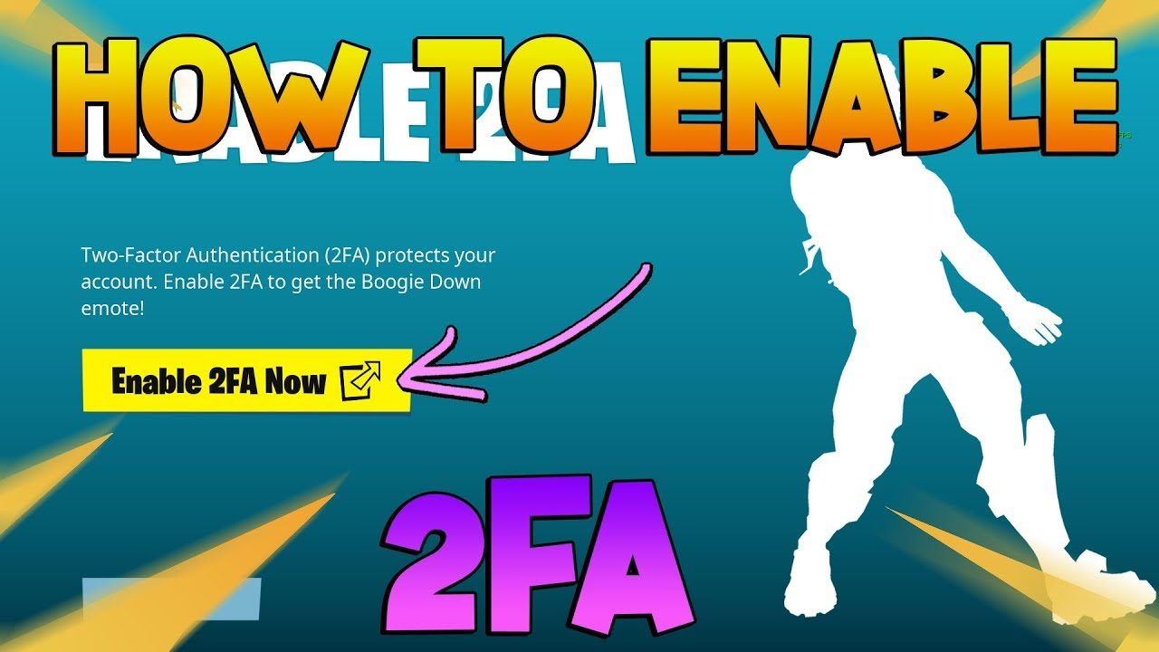 How To Enable 2fa Fortnite 2019 How To Get 2fa Youtube