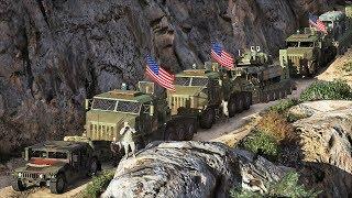 GTA 5 Roleplay - 8x8 Offroad Military Escort (M1070 M1000 Mod)