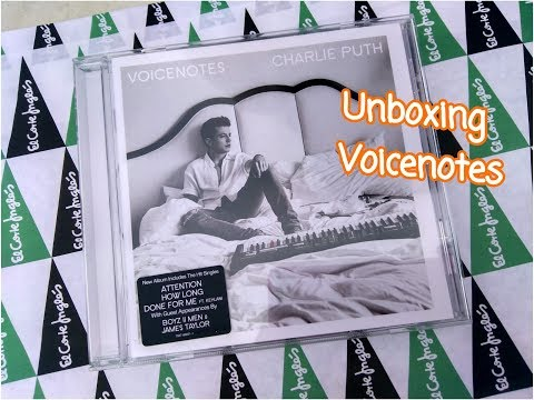 Unboxing ¨VOICENOTES¨ (Charlie Puth) | Sugarfall