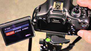 Canon 600D How to change the autofocus mode(This video is part of a series of tutorials for the Canon 600D. If you want any help with other settings please let me know and I'll see what I can do., 2014-03-28T06:31:59.000Z)
