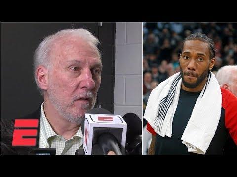 Gregg Popovich 'felt Badly' About Kawhi Leonard Getting Booed By Spurs Fans   NBA Sound