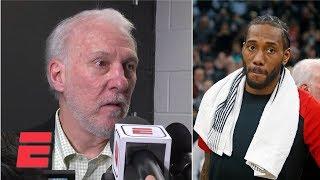Gregg Popovich 'felt badly' about Kawhi Leonard getting booed by Spurs fans | NBA Sound