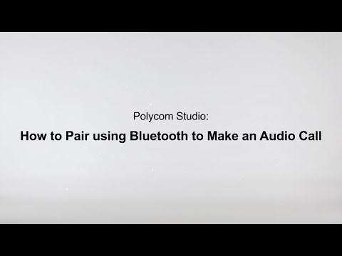 How To Pair Using Bluetooth To Make An Audio Call - Poly Studio USB - Español
