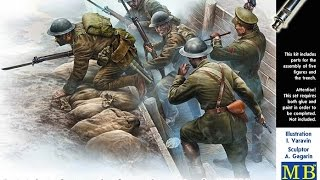 Master  Box : British WWI Infantry Befor The Attack : 1/35 Scale Model : In Box Review