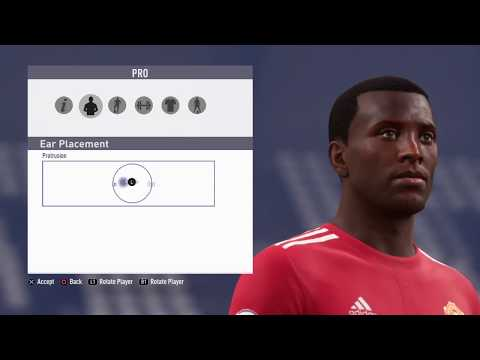 FiFA18 Pro Clubs Game Face Eric Bailly Look Alike
