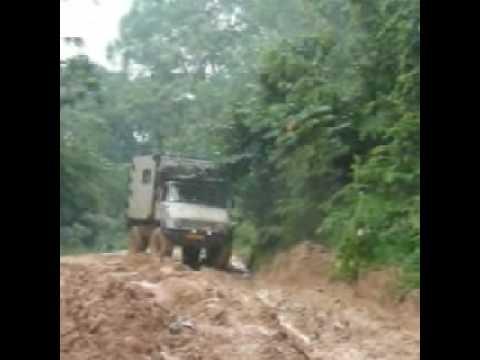 Cameroon. Road Mamfe to Ekok.