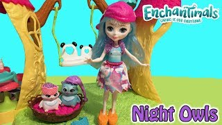 Enchantimals Sleepover Night Owls Doll Set With Ohana Owl & Cute Owl Pets + Accessories