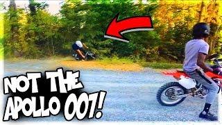 My Friend Crashes The Apollo 007 125cc Pit Bike!