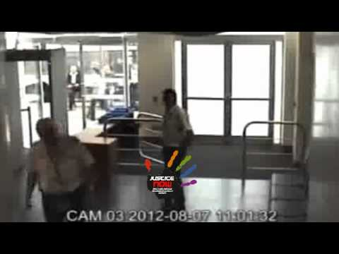 Cambridge Magistrates Court CCTV - alleged assault on court security